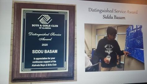 siddu award plaque