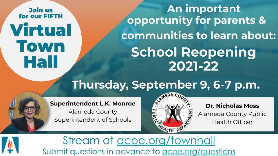 Alameda County School Reopening Webinar